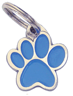 PAW MJAVHOV BLUE - pet ID tag, dog ID tags, pet tags, personalized pet tags MjavHov - engraved pet tags online